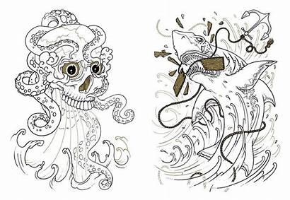 Coloring Tattoo Pages Adult Books Adults