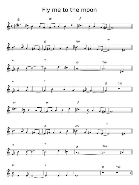 0%(1)0% found this document useful (1 vote). Print and download in PDF or MIDI Fly me to the moon. Free sheet music for Tenor Saxophone. Made ...