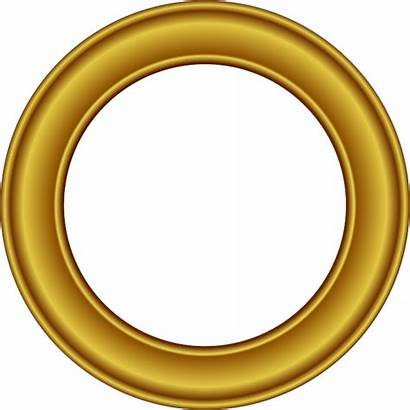 Frame Round Golden Transparent Border Freepngimg Different