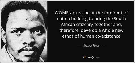 steven biko quote women     forefront
