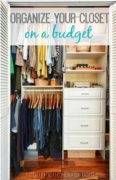 How To Organize A Bedroom On A Budget by How To Organize Closet Space On A Tight Budget
