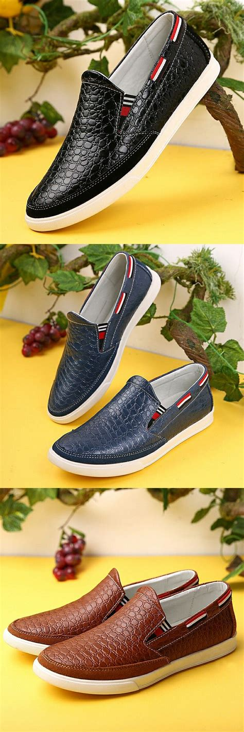Prelesty Urban Crocodile Men Casual Boat Shoes Gentleman