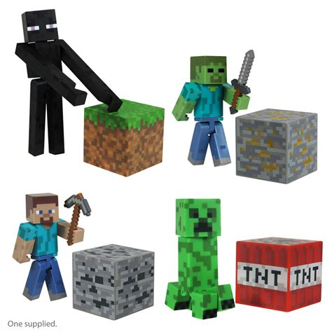 minecraft toys minecraft 3 quot action figures from character options wwsm
