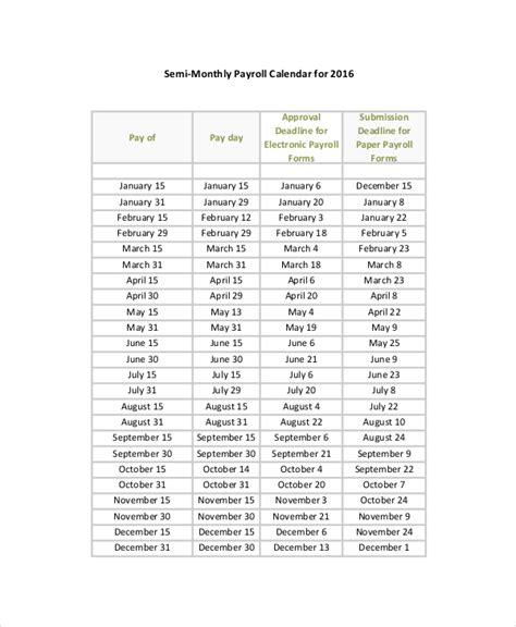 semi monthly payroll calendar template shatterlioninfo