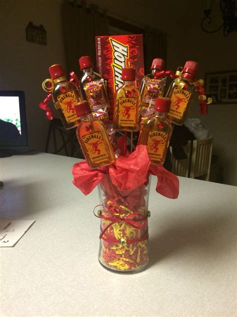 fireball bouquet    beccas  day whiskey gifts