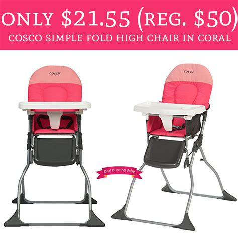cosco simple fold high chair wow only 21 55 regular 50 cosco simple fold high