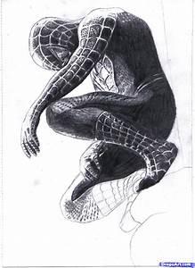 How to Draw Black Spiderman, Black Spiderman, Step by Step ...