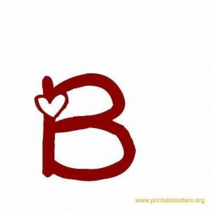 Printable Heart Theme Letters | Printable Alphabet Letters
