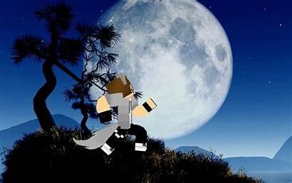 Howling Wolf Moon Animated Minecraft Boy Wallpapersafari