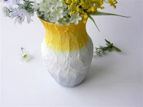 Yellow And Grey Vase by Yellow And Grey Ombre Vase Lemon Yellow By