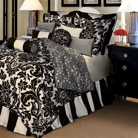 Black And White Bedding Set by Comforter Sets Tree Luxury Bedding Symphony Black And