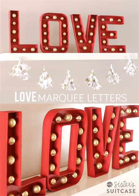diy marquee letters  valentines  christmas  sisters suitcase packed  creativity