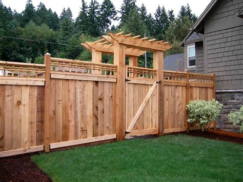privacy fence ideas for front yard wood fence designs archives broward county fence