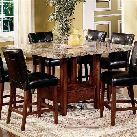 dining set with storage dining set with storage 4 marble top counter height 6714