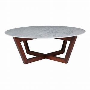 Modern designer round italian marble coffee table walnut for Marble and walnut coffee table