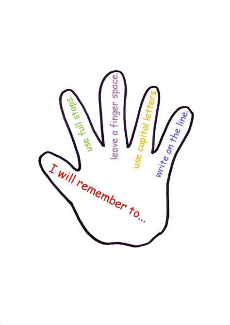 handprint template printable clipartsco