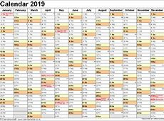Get Free Printable Yearly Calendar 2019 Template Kuwait