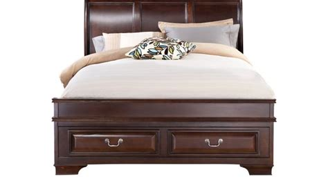 mill valley king bedroom set mill valley ii cherry 3 pc king sleigh bed w storage