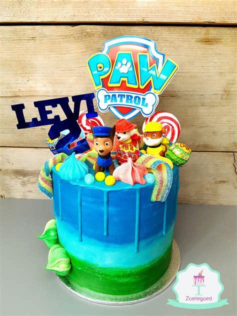 paw patrol drip cake paw patrol   paw patrol