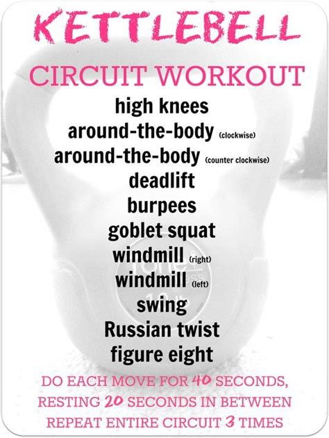 kettlebell circuit workout workouts training cardio tips crossfit cross fitness challenge tabata body gym