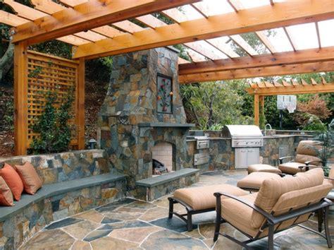 cuisine de jardin la décoration extérieure avec un treillis de jardin