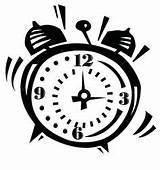 Coloring Alarm Clock Wake Call Clocks Sheets Children sketch template