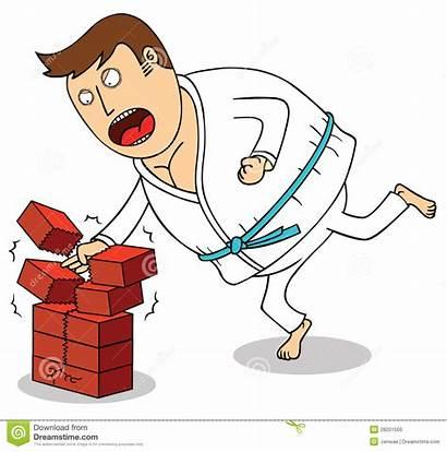 Karate Breaking Bricks Brechen Ziegelsteine