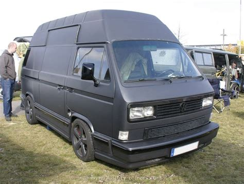 vw t3 panel equipped with an audi v8 vw transporter