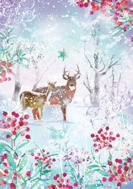 ling design  enchtanted forest christmas card