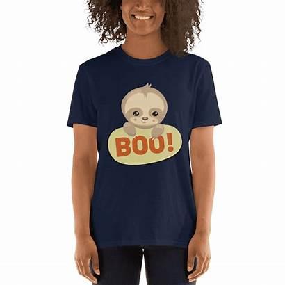 Sloth Halloween Boo Shirt Adorable Saying