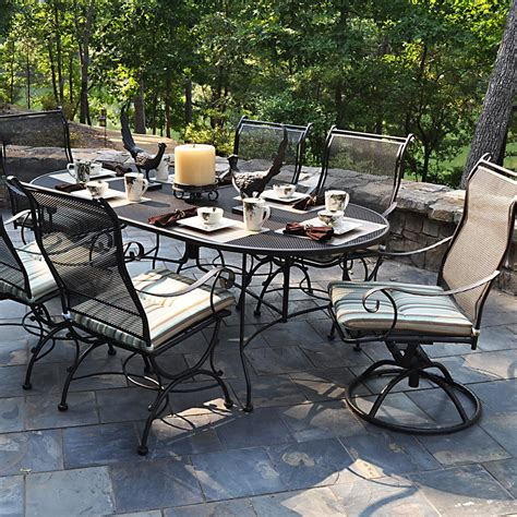 meadowcraft alexandria wrought iron 7 patio dining