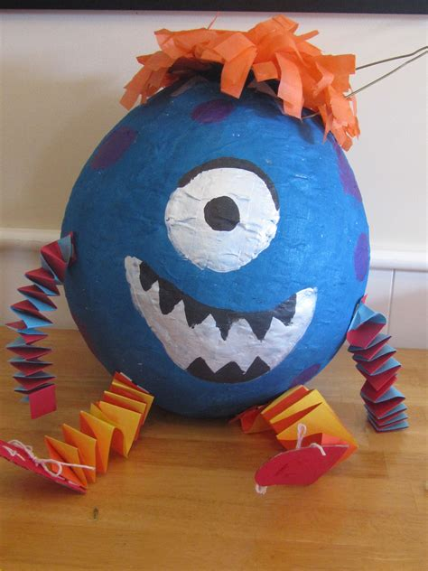 paper mache pinata monster pinata hmmm maybe z will have this as a project if we do a monster party cameron s