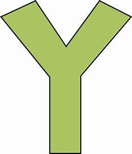 Green Letter Y Clip Art - Green Letter Y Image
