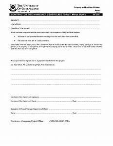 handing over certificate sample fill online printable With handover certificate template