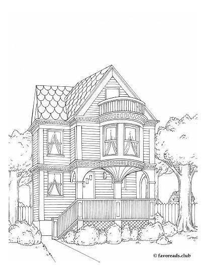 Coloring Pages Adult Houses Colouring Books Buildings