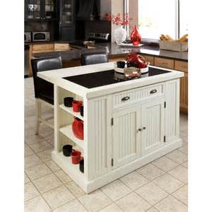 7 foot kitchen island home styles nantucket white kitchen island with granite top 5022 94 the home depot