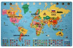 World Map Foam Puzzle Mat