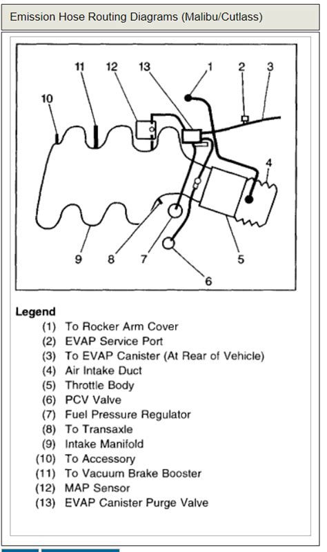 Vacuum Diagram Replaced The Intake Manifold Lower