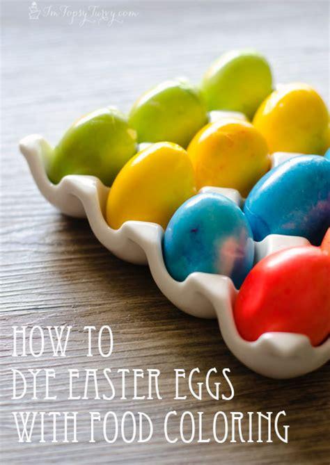 dye easter eggs  food coloring cupcake diaries