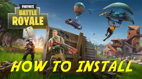 install fortnite battle royale tutorial youtube