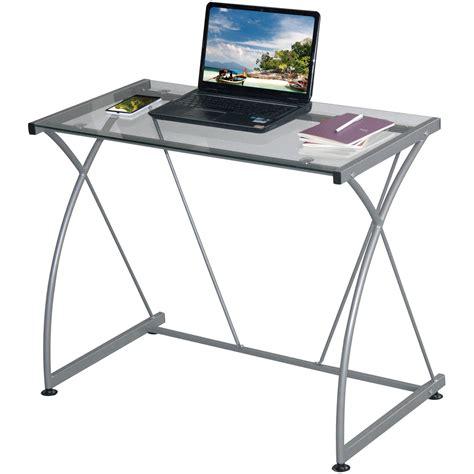 glass top desk walmart glass desks walmart com