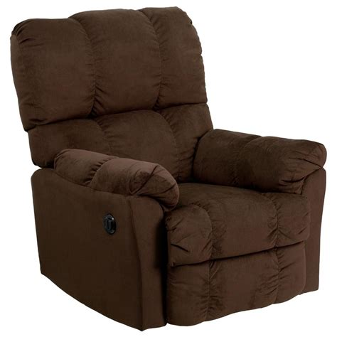 Microfiber Recliner by Flash Furniture Contemporary Top Hat Chocolate Microfiber