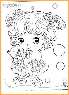 desenhos  pintar bonequinha