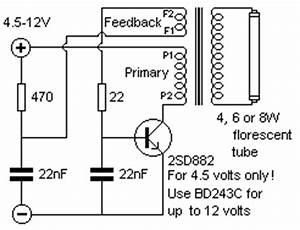 simple fluorescent lamp inverter circuit diagram With cfl lamp circuit