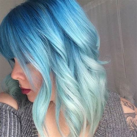And Blue Hairstyles by 10 Intriguing Blue Hairstyles And Color Ideas 2019