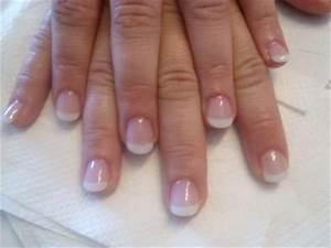 Ongle En Gel Court : french blanche en gel uv sur ongle naturelle blog de nailart51 ~ Melissatoandfro.com Idées de Décoration