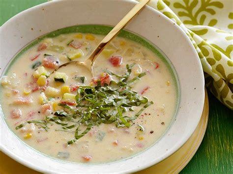 creamy corn  vegetable soup recipe ellie krieger