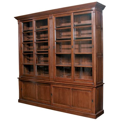Oak Bookcases With Glass Doors by Furniture Classics Sliding Door European Solid Oak