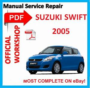 Official Workshop Manual Service Repair For Suzuki Swift