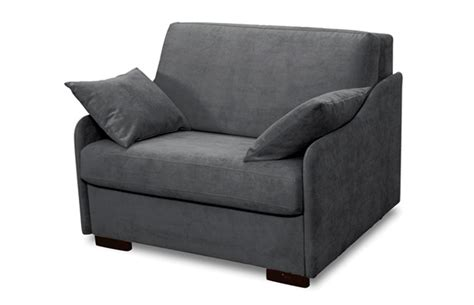 canapé chauffeuse nighty fauteuil convertible 1 place couchage 80 salon